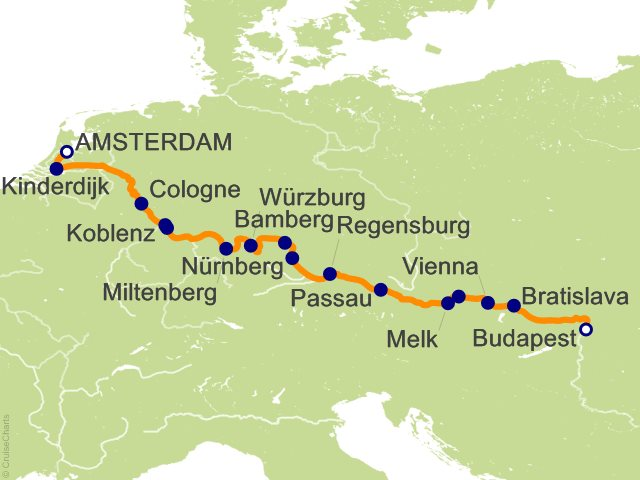 14 Night Grand European Tour Cruise from Amsterdam