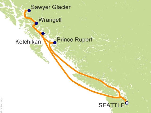7 Night Coastal Alaska Cruise from Seattle