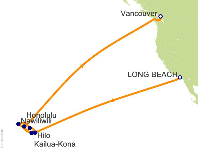 16 Night Hawaii Cruise from Long Beach