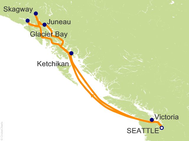 7 Night Inside Passage With Glacier Bay Cruise On Crown