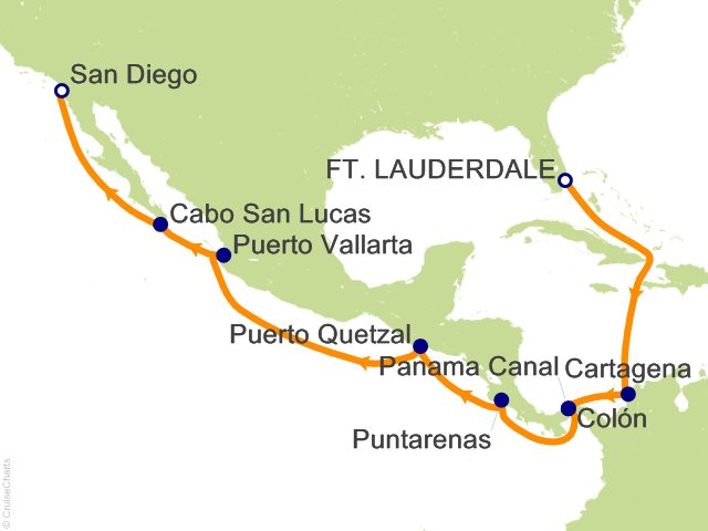 15 Night Panama Canal Westbound Cruise from Fort Lauderdale