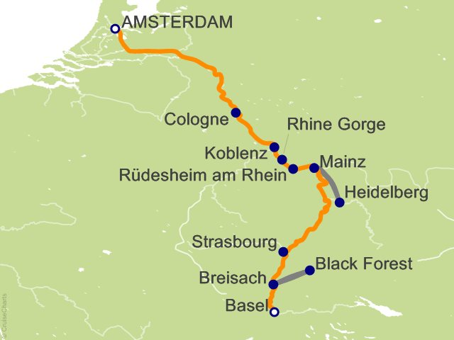 7 Night Romantic Rhine   Southbound Cruise from Amsterdam