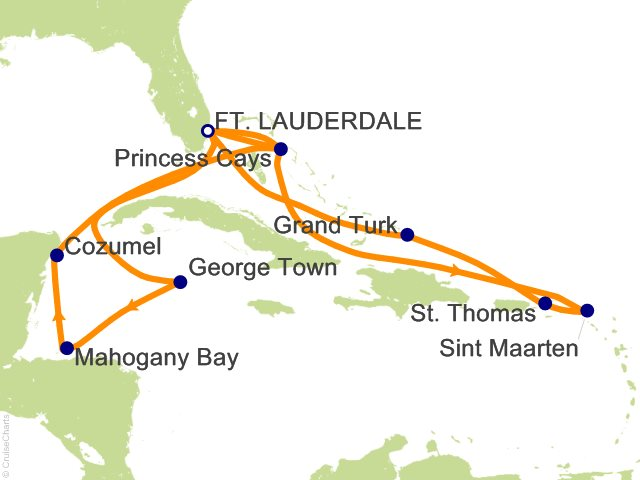 14 Night Caribbean Adventurer Cruise from Fort Lauderdale