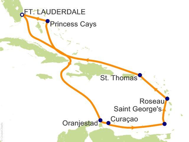 10 Night Southern Caribbean Medley Cruise from Fort Lauderdale