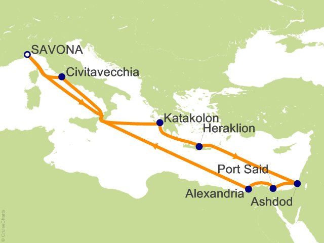 11 Night Costa Cruise Cruise from Savona