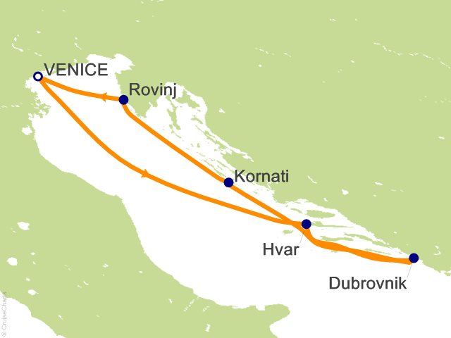 4 Night Venice to Venice Cruise from Venice