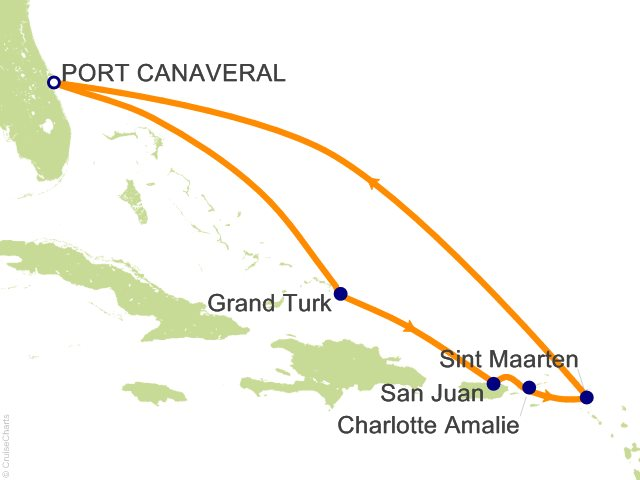 8 Night Eastern Caribbean Cruise from Port Canaveral
