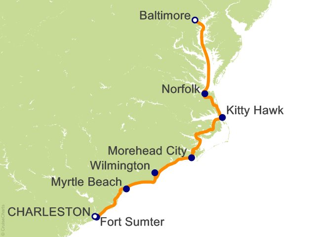 7 Night Mid Atlantic Inland Passage Cruise from Charleston