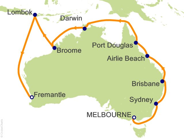 19 Night Northern Australia Explorer Cruise from Melbourne