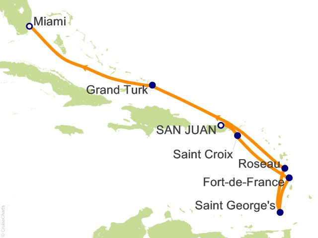 8 Night Southern Caribbean Cruise from San Juan