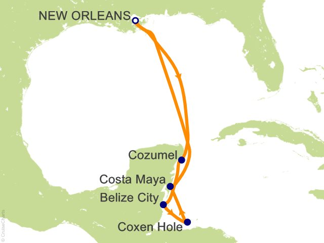 7 Night Western Caribbean from New Orleans Cruise from New Orleans