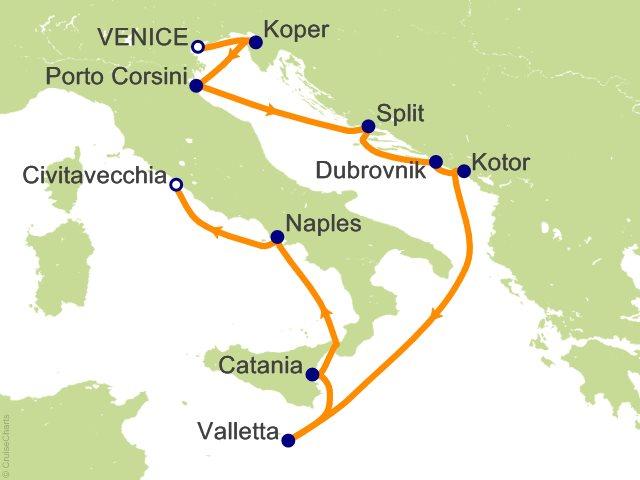 Dalmatian Coast Cruises Venice And Dalmatian Coast Cruise