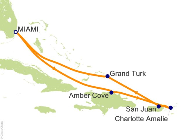 7 Night Eastern Caribbean Cruise On Carnival Glory From Miami Sailing January