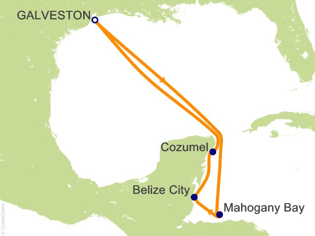 7 Night Western Caribbean Cruise On Carnival Breeze From Galveston Sailing Ja