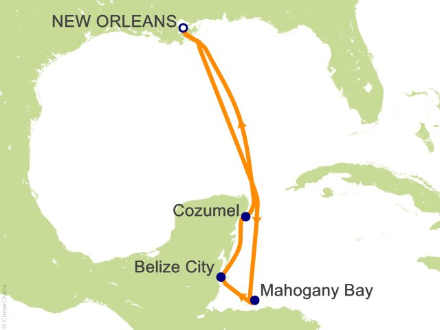 7 Night Western Caribbean Cruise from New Orleans