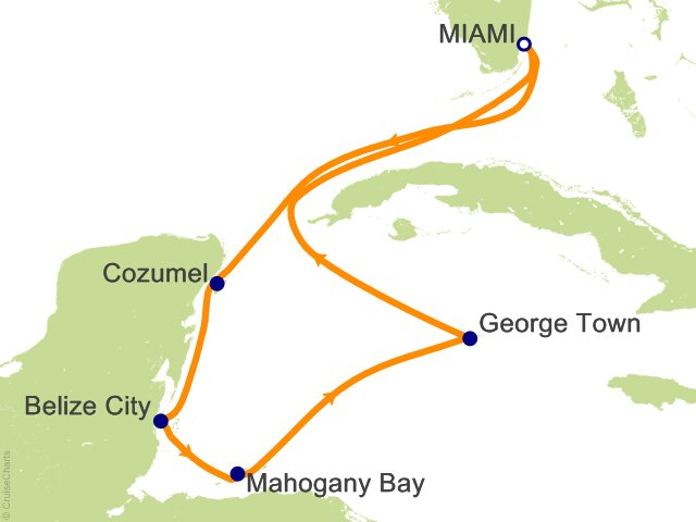 7 Night Western Caribbean Cruise On Carnival Glory From