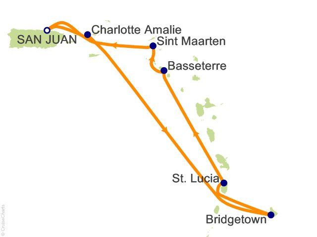 7 Night Southern Caribbean Cruise from San Juan