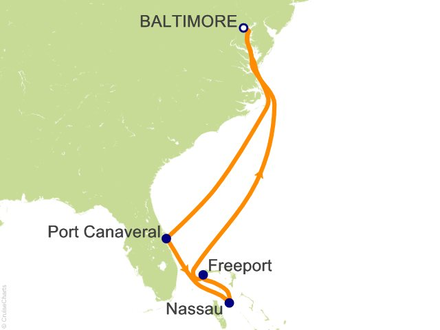 7 Night Bahamas Cruise from Baltimore