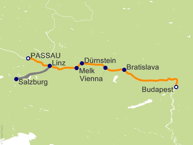 7 Night Danube Waltz Cruise from Passau