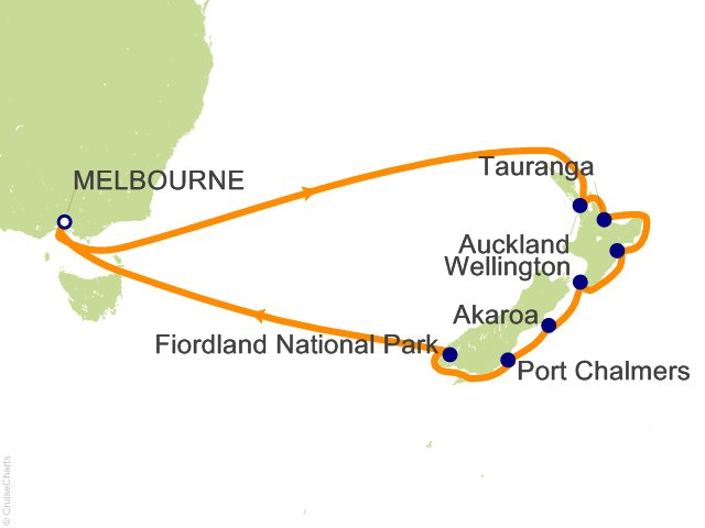 13 Night New Zealand Cruise from Melbourne