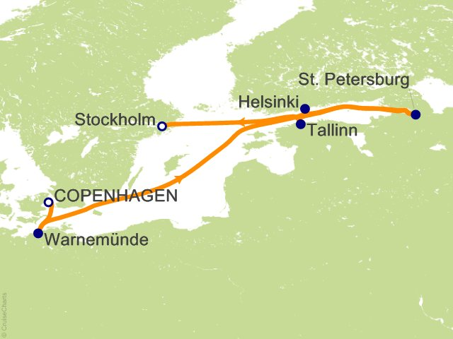 10 Night White Nights Cruise from Copenhagen