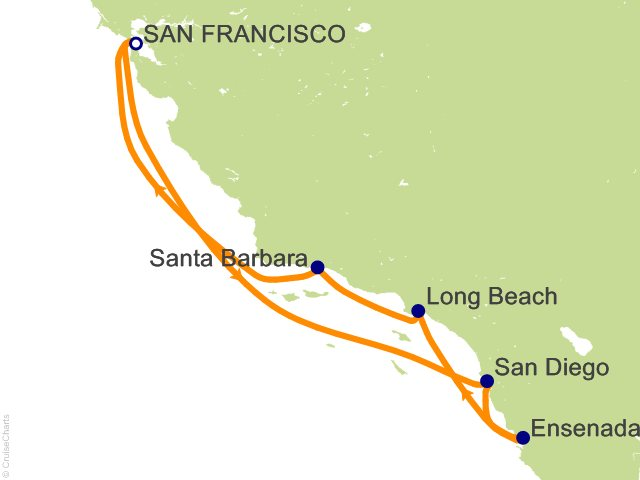 7 Night California Coastal Cruise from San Francisco