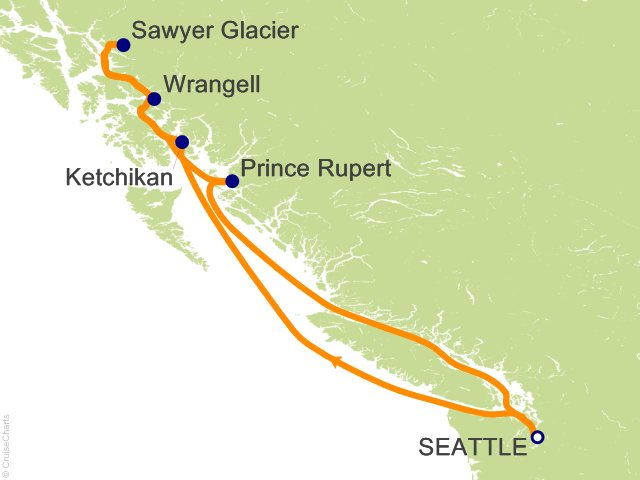 7 Night Coastal Alaska Cruise from Seattle