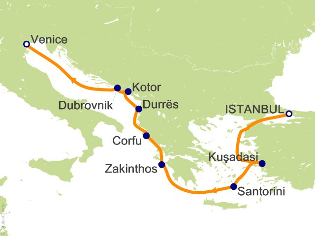 10 Night Islands and Icons Cruise from Istanbul